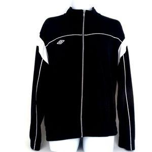 UMBRO Men's Black/White Full-Zip Track Jacket  XL